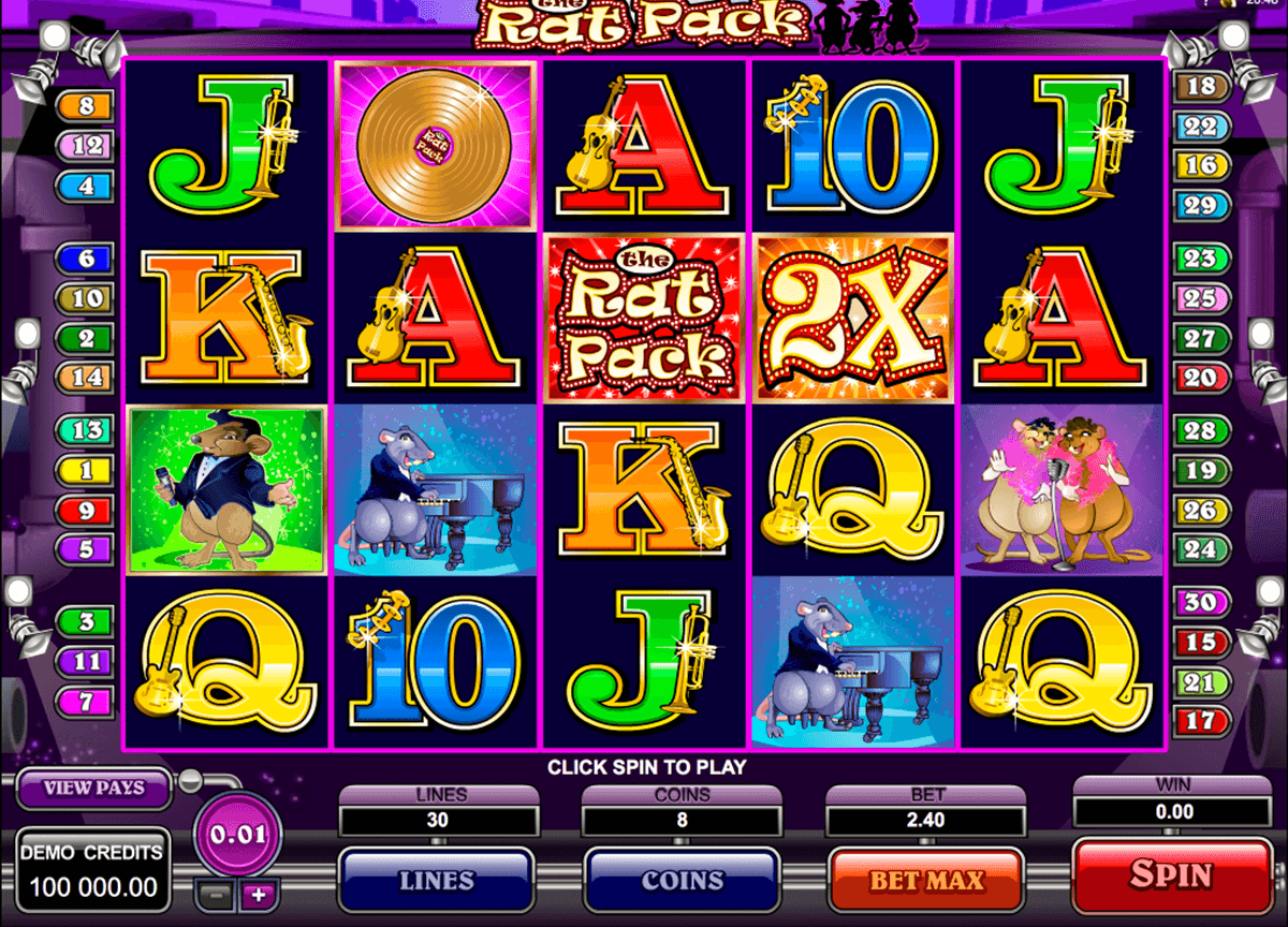 the rat pack microgaming slot machine