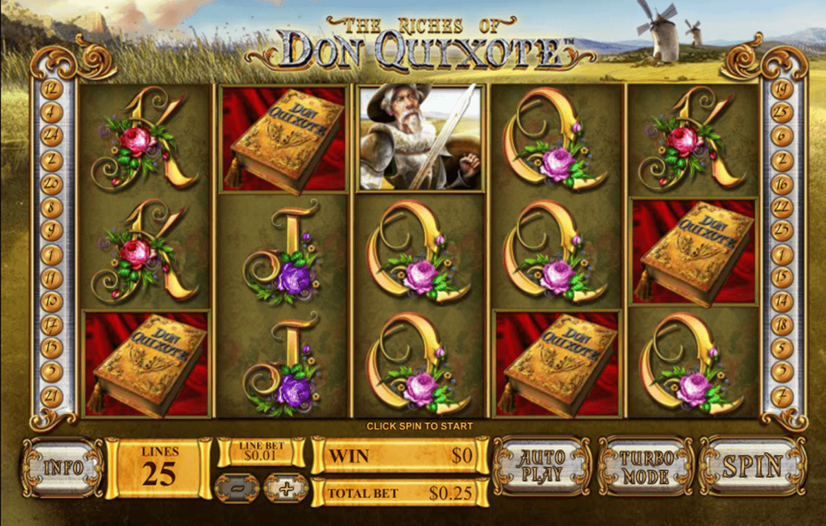 the riches of don quixote playtech slot machine