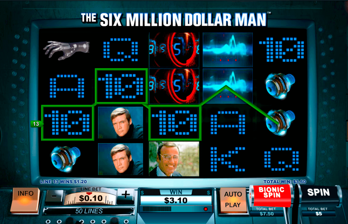the six million dollar man playtech slot machine
