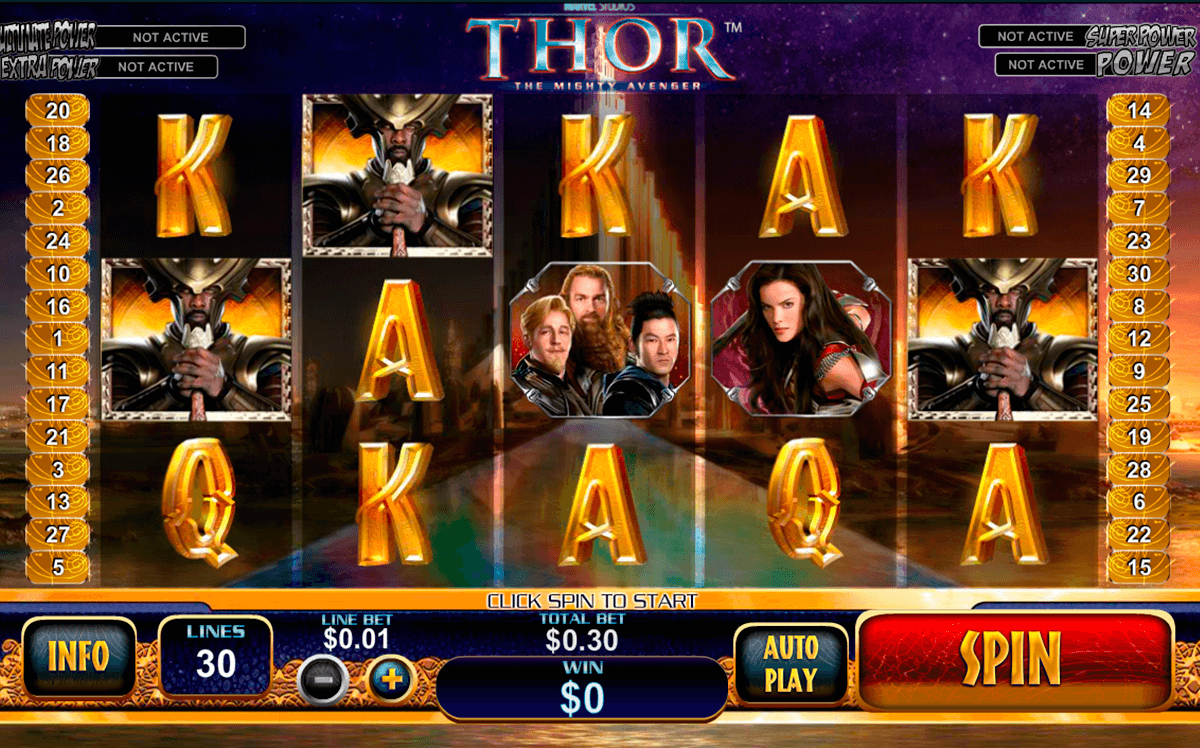 thor the mighty avenger playtech slot machine