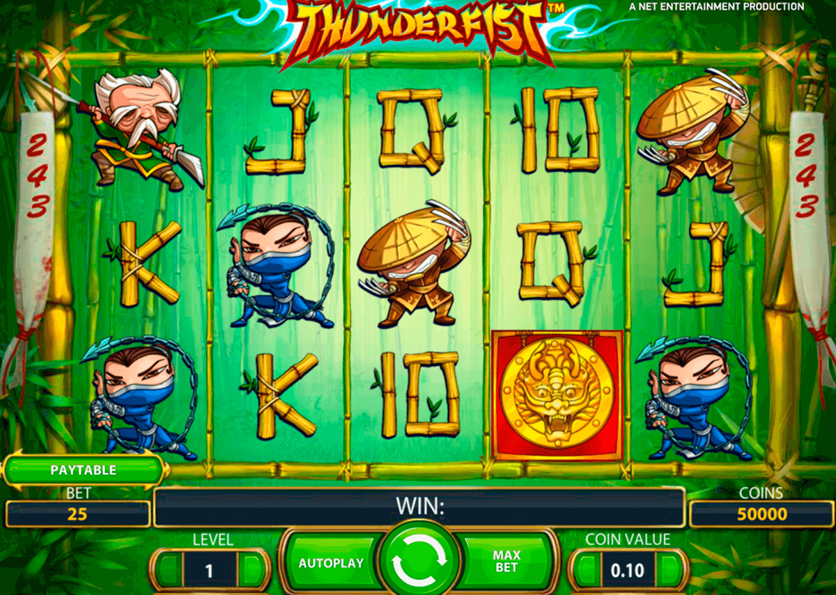 thunderfist netent slot machine
