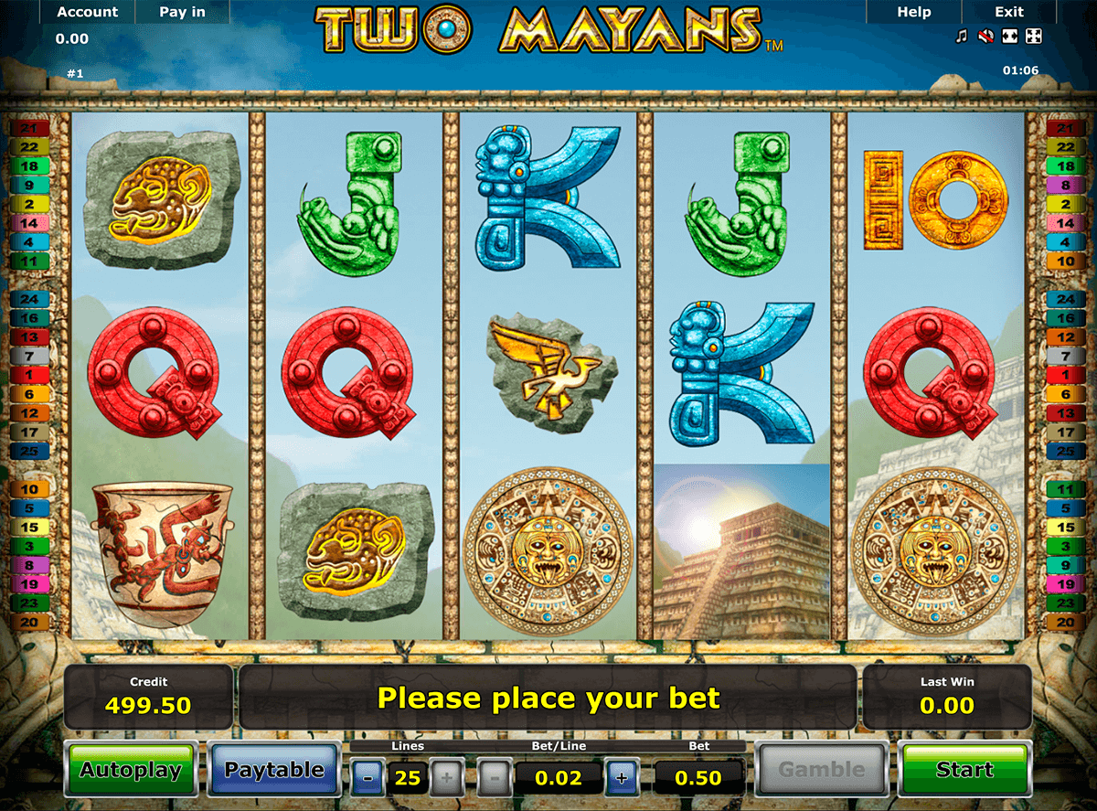 two mayans novomatic slot machine