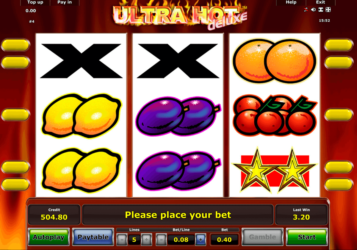 ultra hot deluxe novomatic slot machine