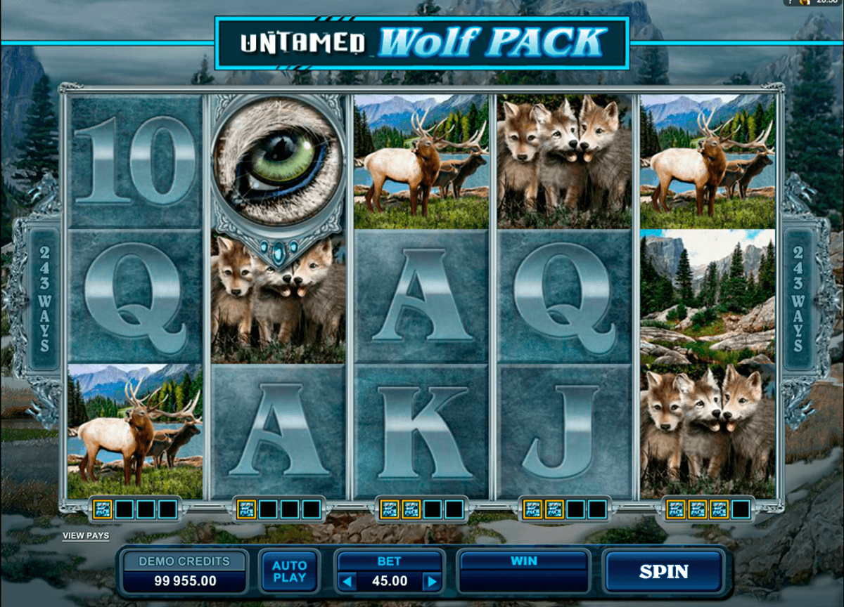 untamed wolf pack microgaming slot machine