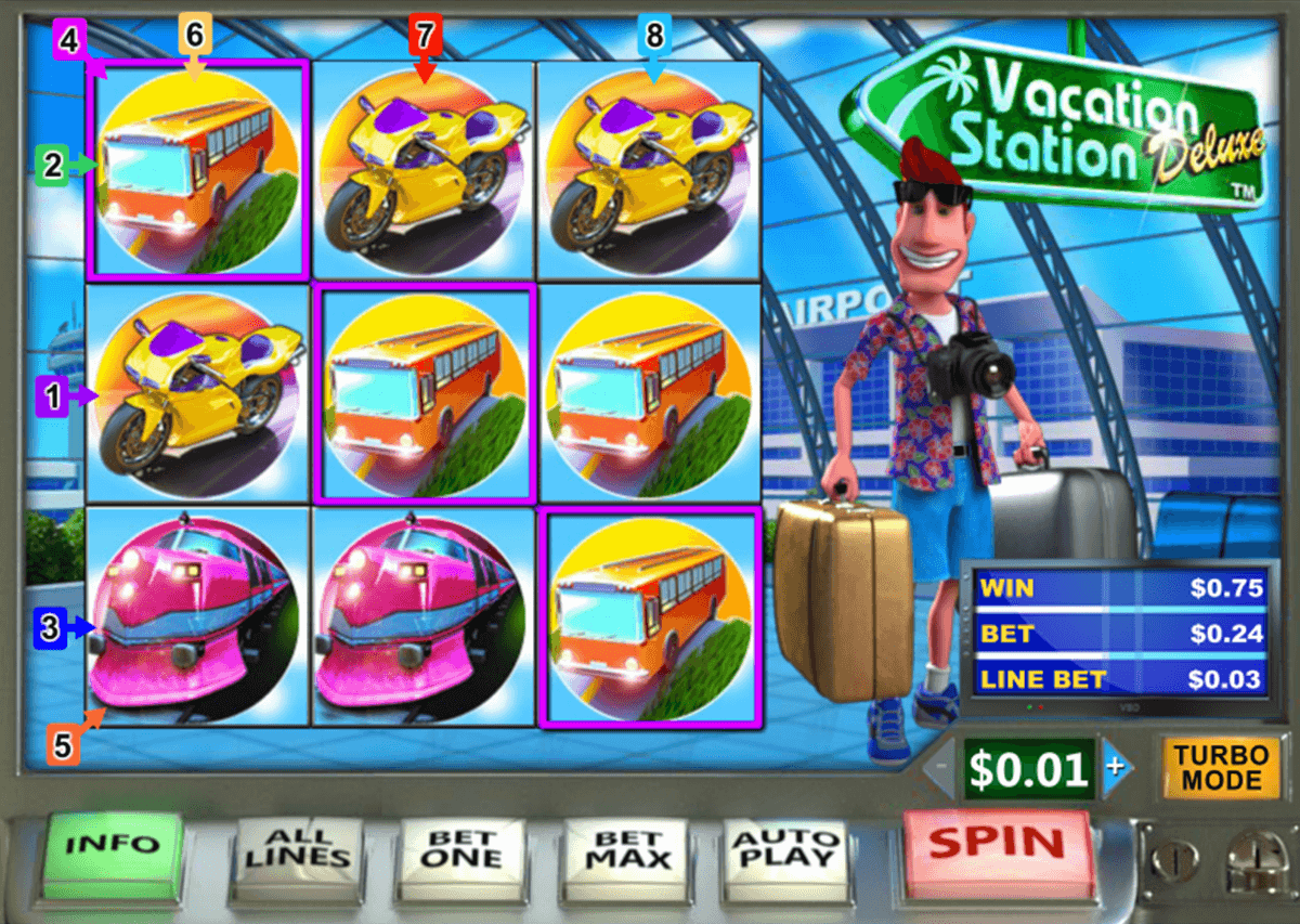 vacation station deluxe playtech slot machine