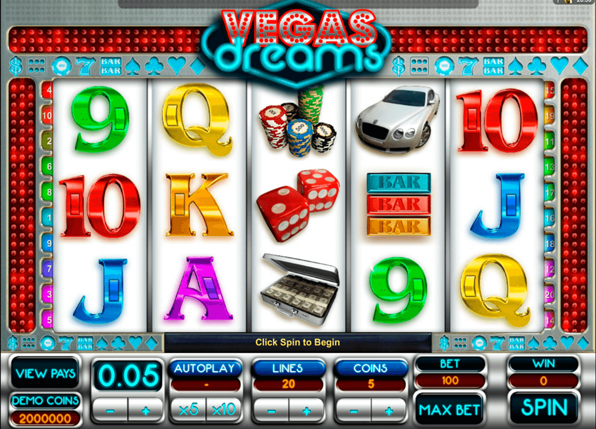 vegas dreams microgaming slot machine