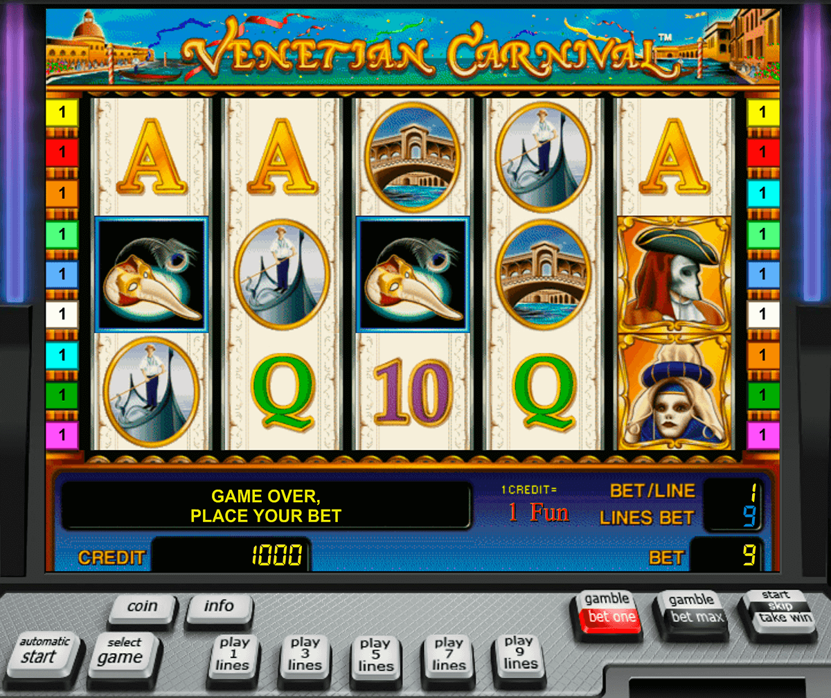 venetian carnival novomatic slot machine