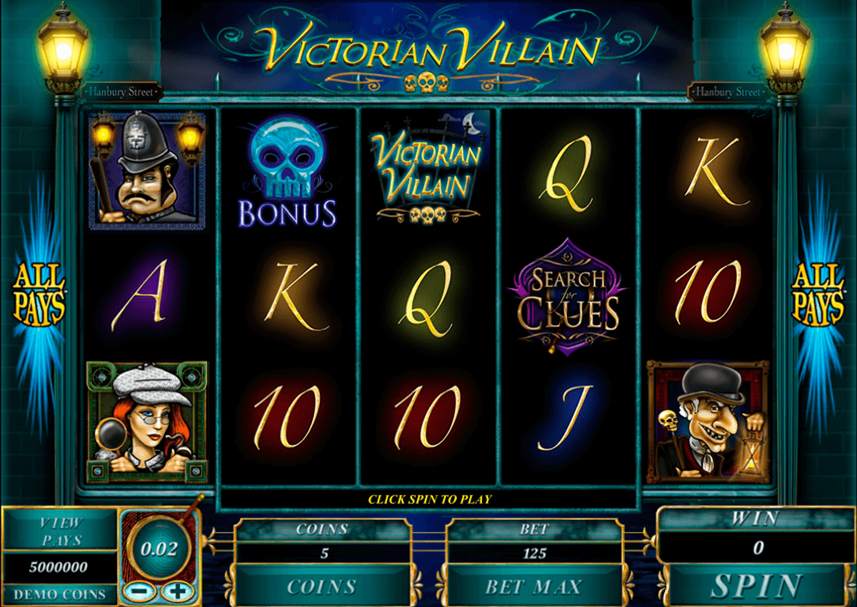 victorian villain microgaming slot machine