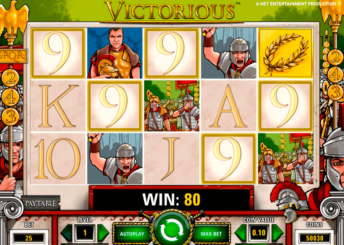 victorious netent slot machine