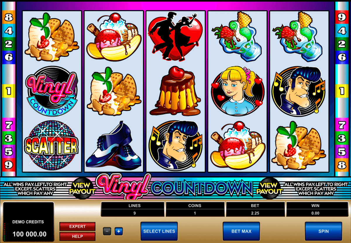 vinyl countdown microgaming slot machine