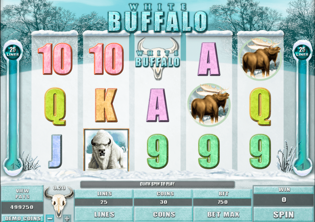 white buffalo microgaming slot machine