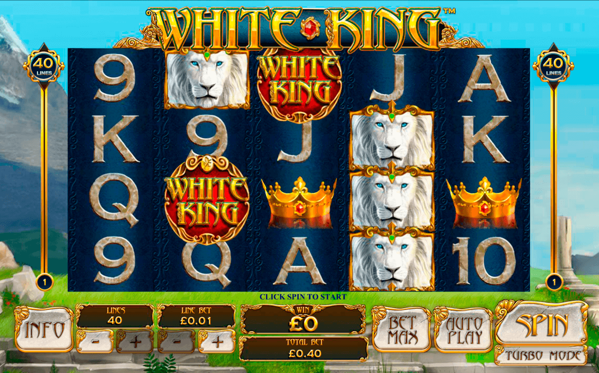 white king playtech slot machine