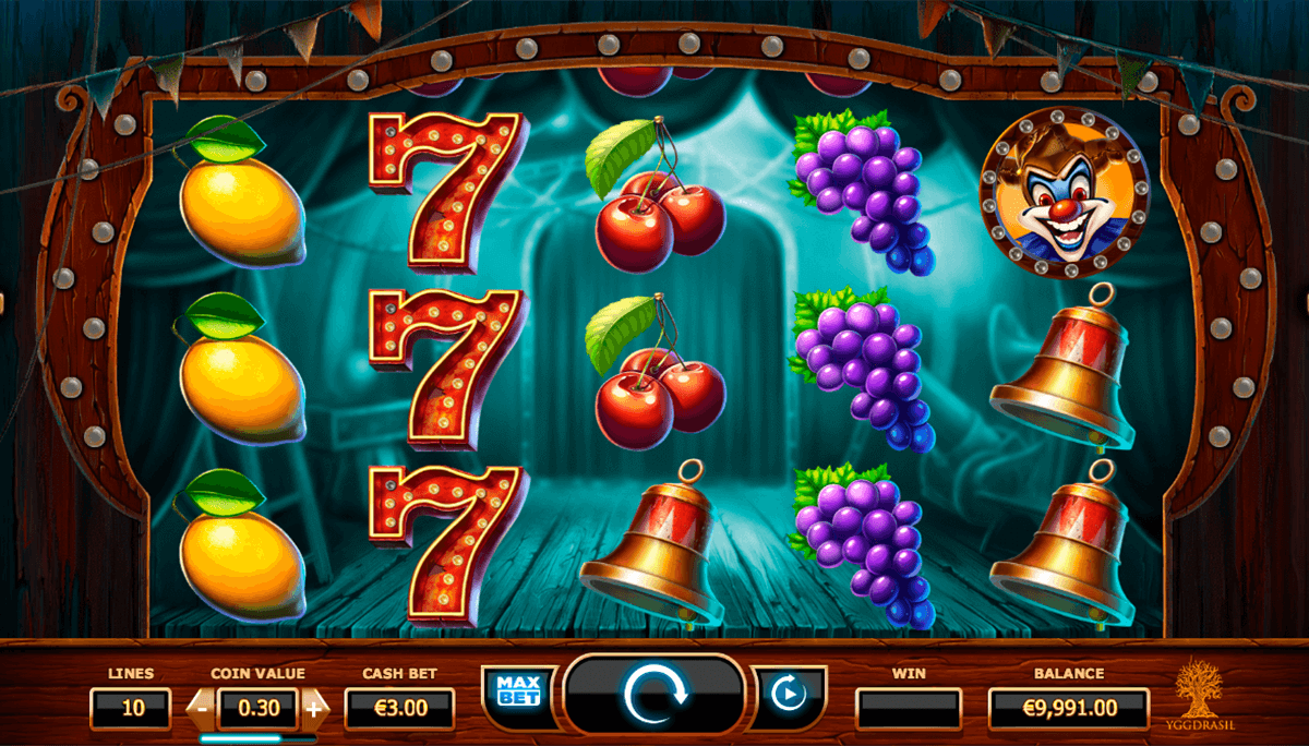 wicked circus yggdrasil slot machine