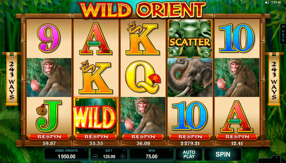 wild orient microgaming slot machine