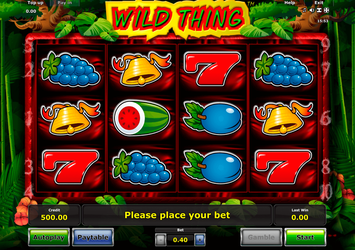 wild thing novomatic slot machine