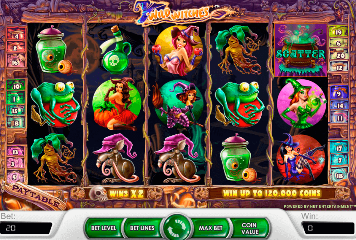 wild witches netent slot machine