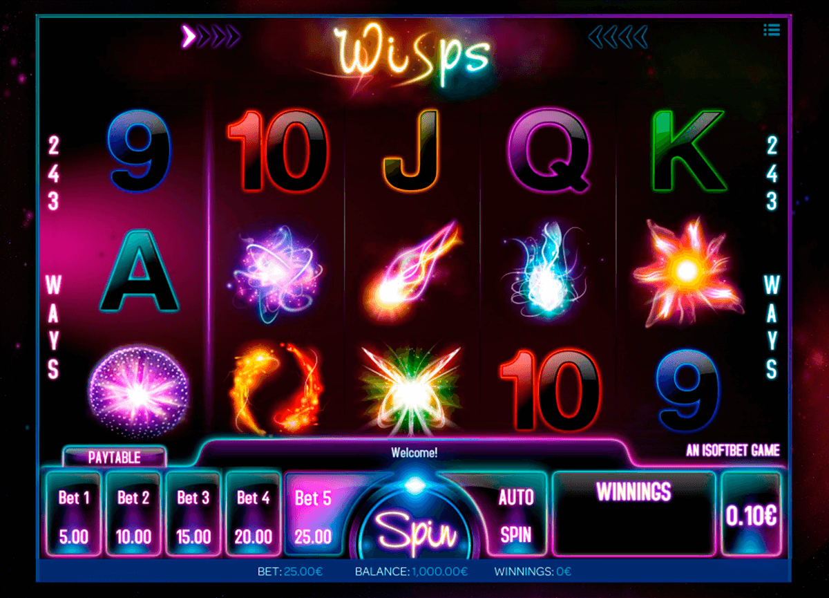 wisps isoftbet slot machine