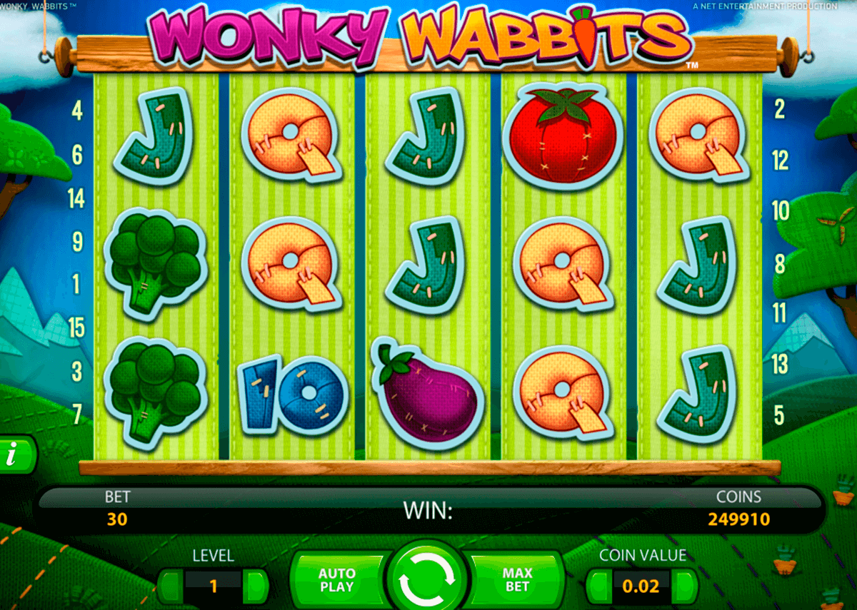 wonky wabbits netent slot machine