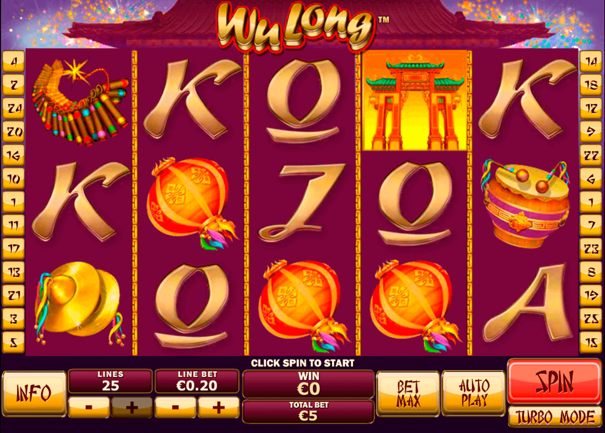 wu long playtech slot machine
