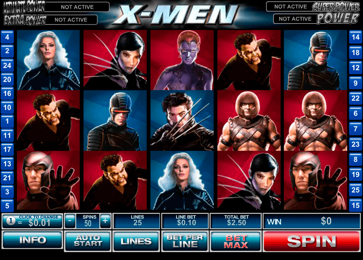 xmen playtech slot machine