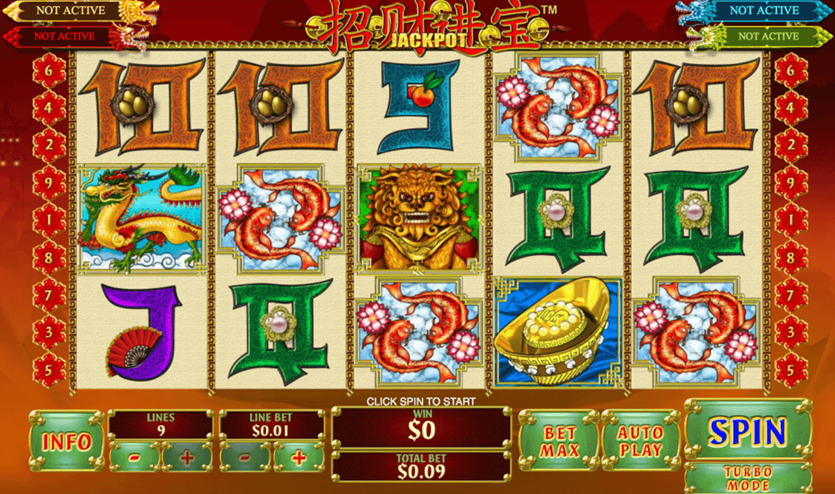 zhao cai jin bao jackpot playtech slot machine