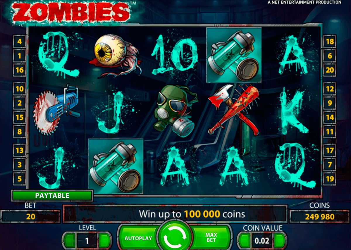zombies netent slot machine
