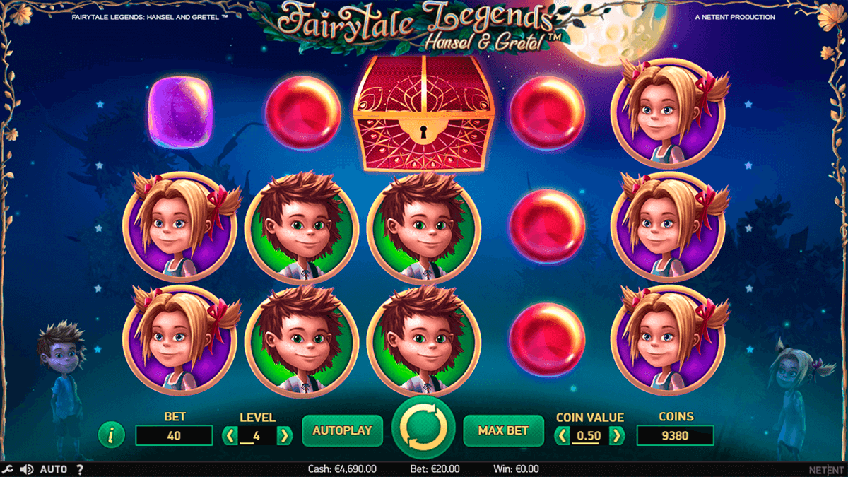 fairytale legends hansel and gretel netent slot machine